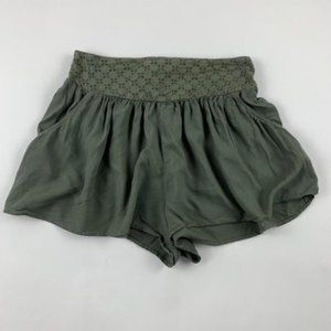 American Eagle Olive Eyelet Accent Shorts S